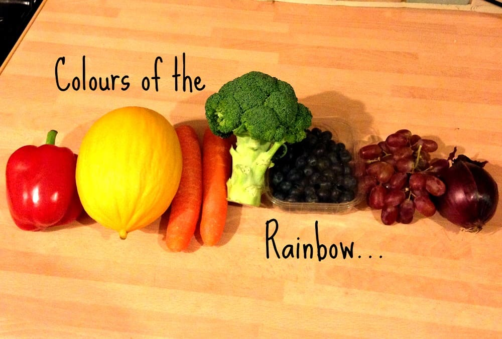 Colours of the Rainbow: talking about healthy eating to 4 year olds!