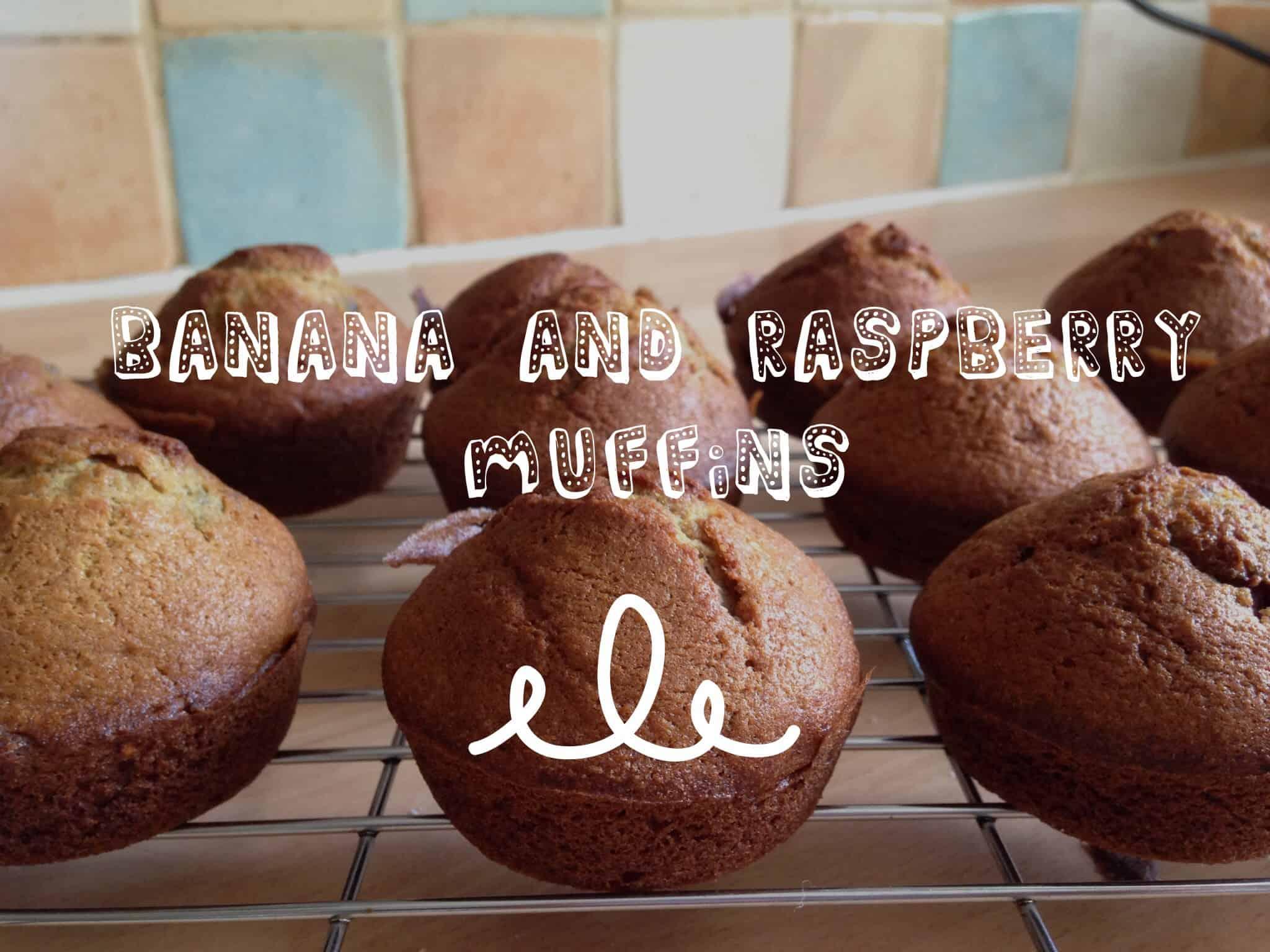 Banana and Raspberry Muffins