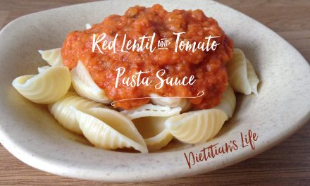Red Lentil and Tomato Pasta Sauce