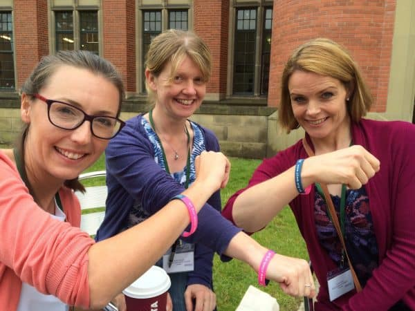 3 Metabolic Dietitians showing their Metabolic UK braclets