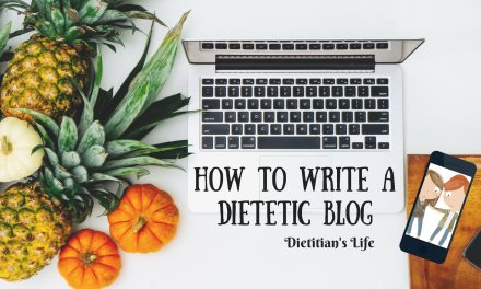 How to write a dietetic blog