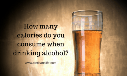 How many calories do you consume when drinking alcohol?