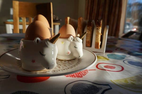 Unicorn egg cups