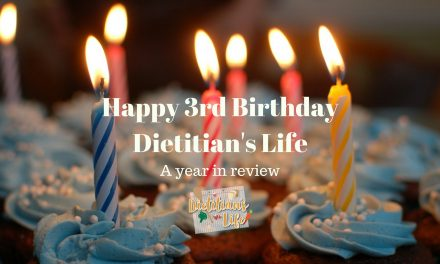 Dietitian's Life 3 years on!