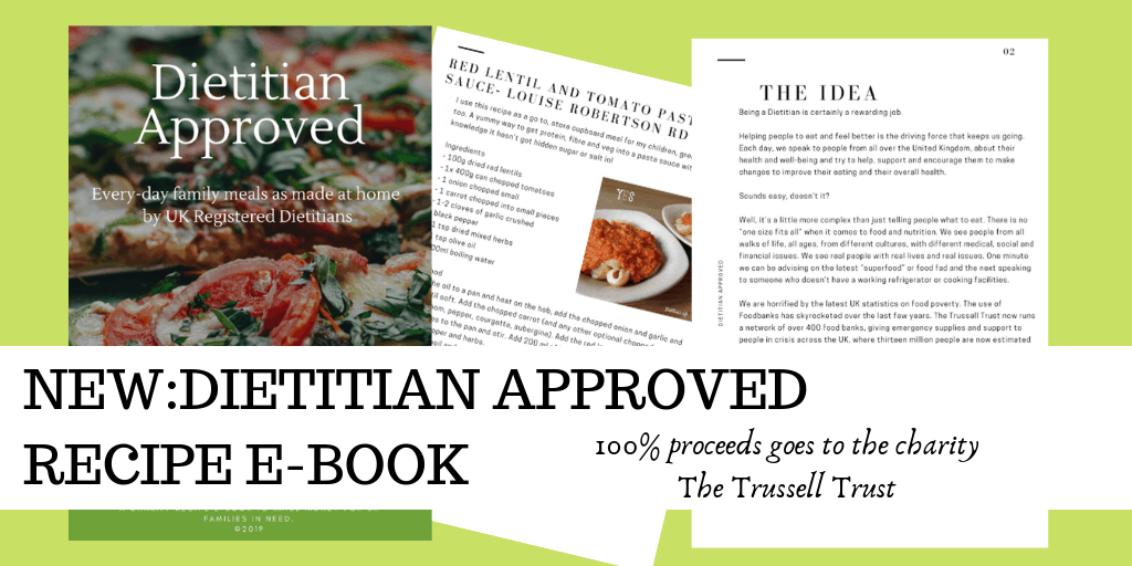 Dietitian Approved Recipe Book; Recipes by UK Dietitians