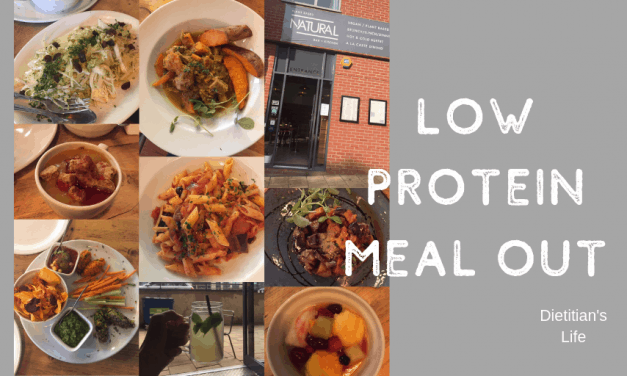 Low Protein Meal Out
