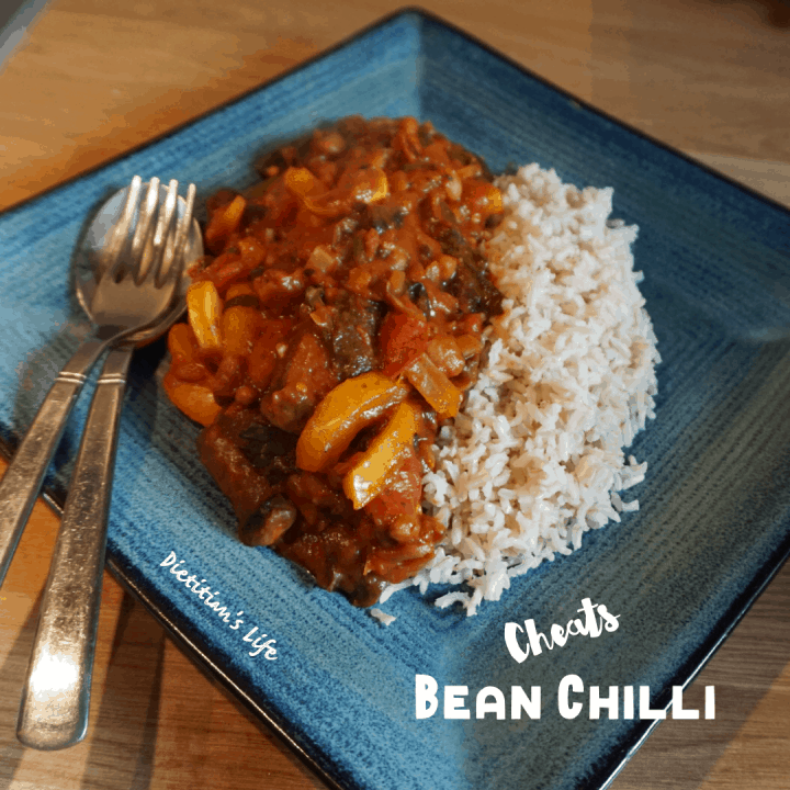 bean chilli and brown rice