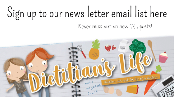 Dietitian's logo and encouraging you to sign up to our newsletter