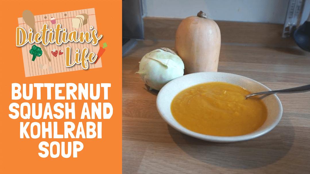 Butternut Squash and Kohlrabi Soup